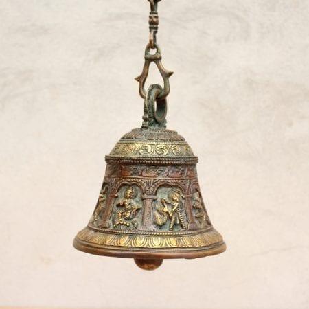 Campana tallada de bronce. Tienda Himalaya. B488