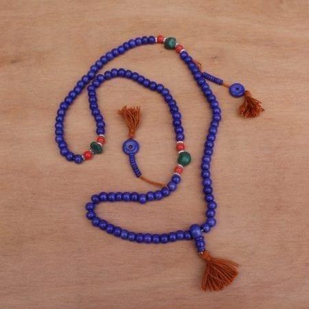 Mala Tibetano Azul. Tienda Himalaya. NB26B.2
