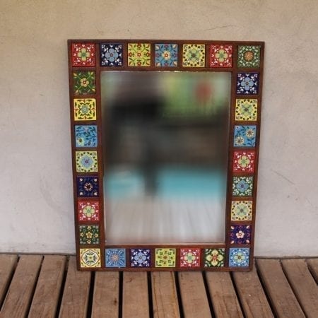 Espejo con ceramica. Tienda Himalaya. GP.112 (2)