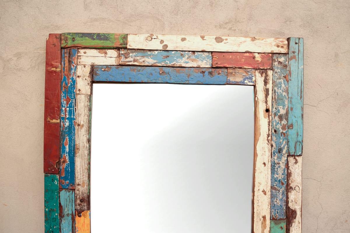 Espejocon marco de madera antiguo | Tienda Himalaya