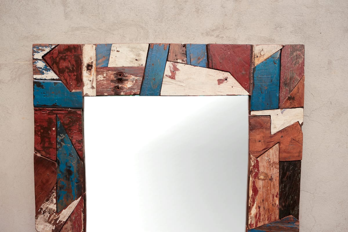 Espejo espejo con marco de madera antiguo | Tienda Himalaya