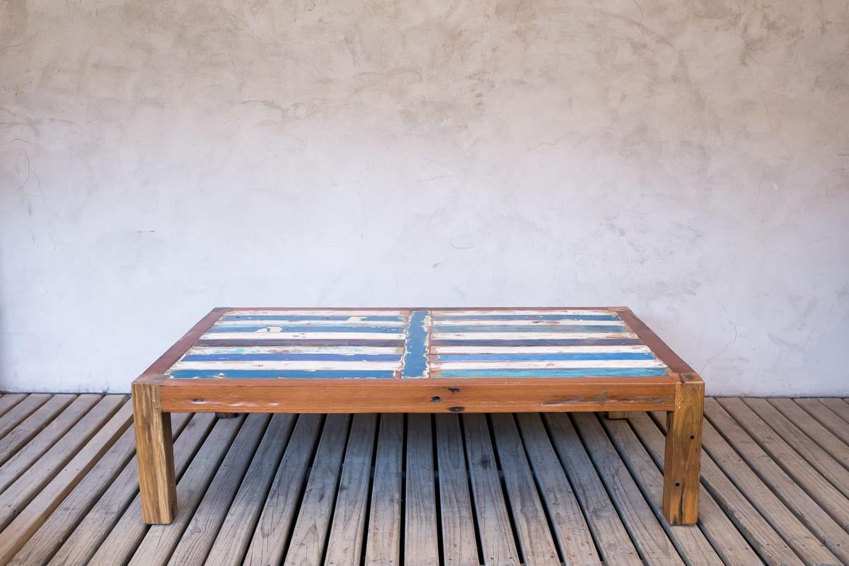 Mesa de madera reciclada de bote - Madera para mesa ...