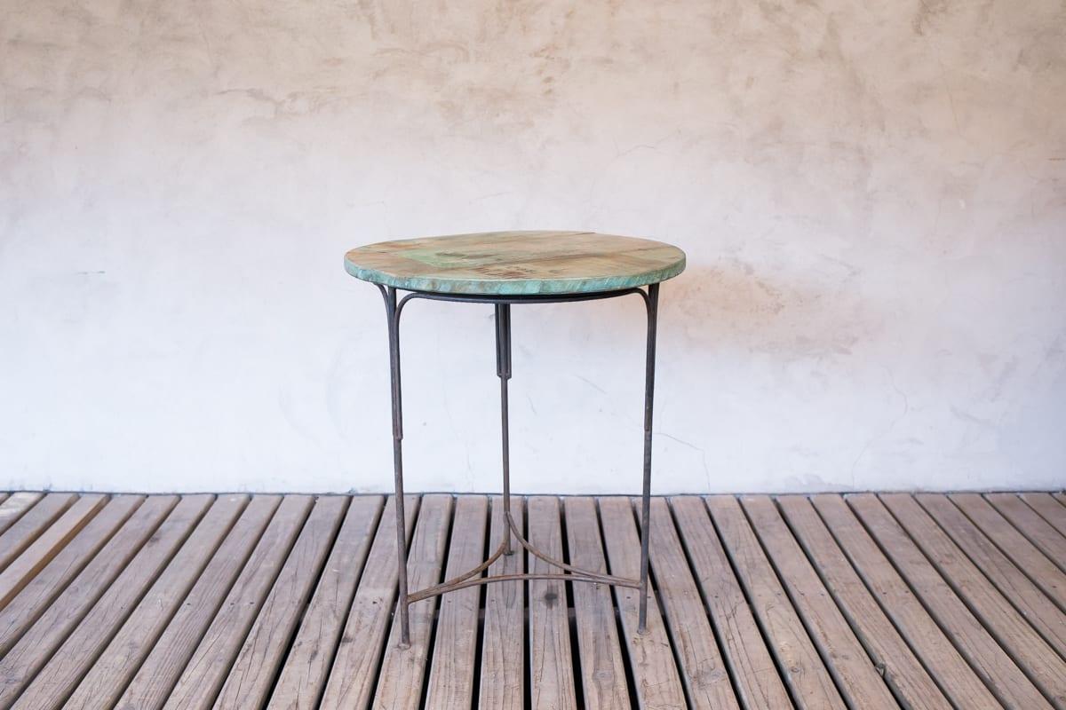mi 425 mesa redonda madera y fierro1 - Mesa Redonda Madera