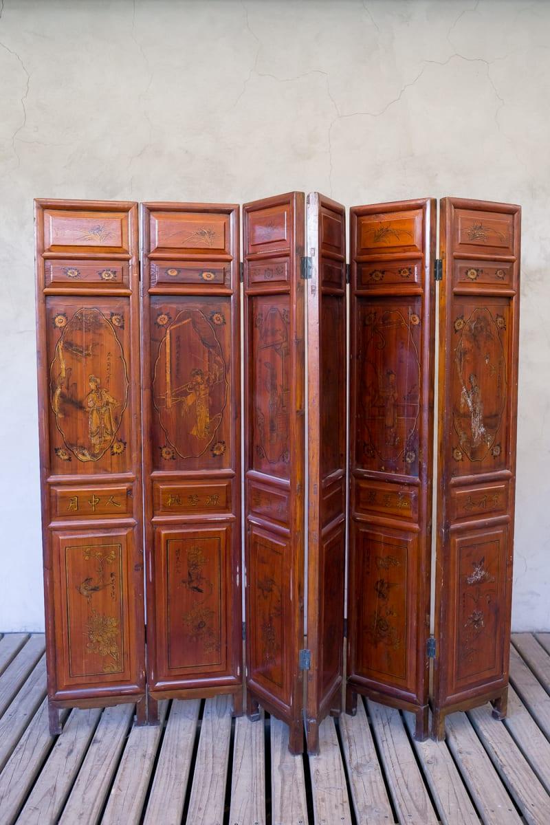Sc biombo chino de madera2 tienda himalaya for Muebles chinos outlet