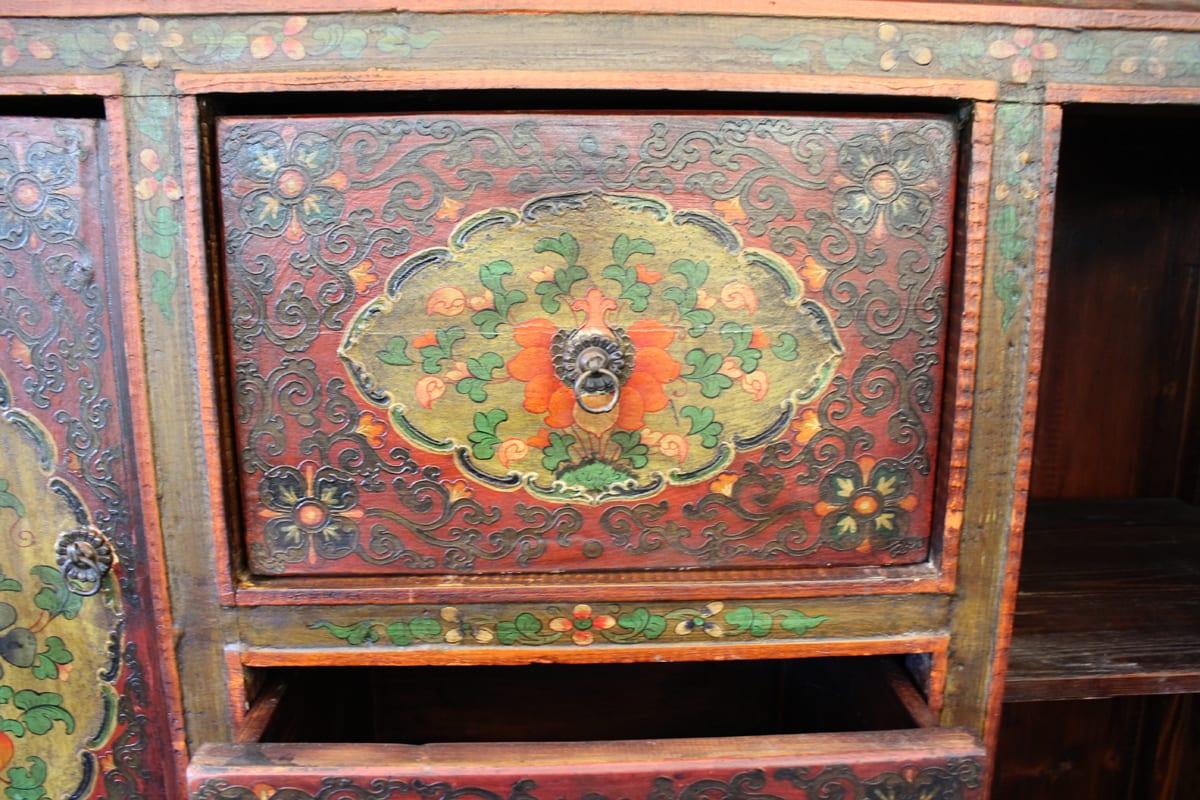 Arrimo Chino Con Cajones  # Muebles Tibetanos Antiguos