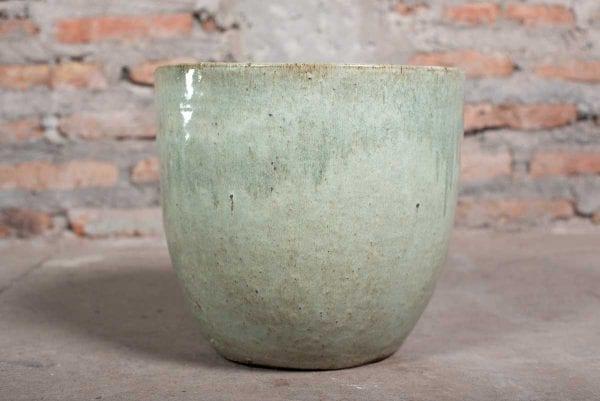 macetero ceramica verde musgo